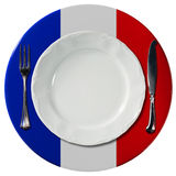 French Cuisine - Plate and Cutlery Royalty Free Stock Photo
