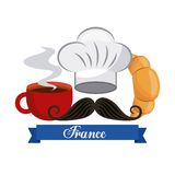 french culture set icons Royalty Free Stock Photos