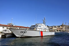 French customs boat Royalty Free Stock Photos