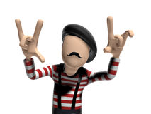French 3D Cartoon character Stock Images