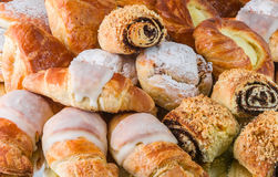 French and danish pastry Royalty Free Stock Photography