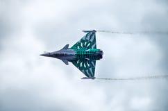 French Dassault Rafale fighter on Radom Airshow, Poland Stock Photo