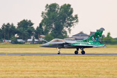 French Dassault Rafale fighter on Radom Airshow, Poland Royalty Free Stock Photos