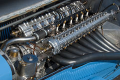 French Delage racing engine Royalty Free Stock Photo