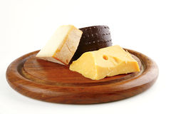 French delicatessen cheeses Stock Photo