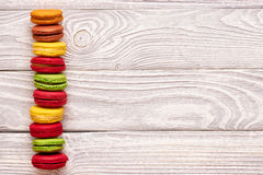 French delicious dessert macaroons Royalty Free Stock Photography
