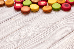 French delicious dessert macaroons Stock Photography