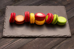 French delicious dessert macaroons Stock Image