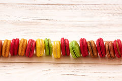 French delicious dessert macaroons Stock Images