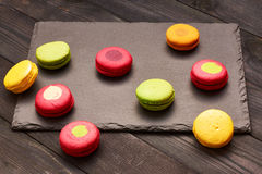French delicious dessert macaroons Royalty Free Stock Image