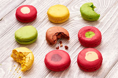 French delicious dessert macaroons Royalty Free Stock Images