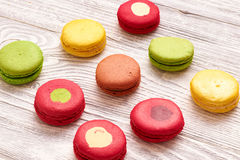 French delicious dessert macaroons Stock Photos