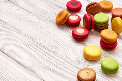 French delicious dessert macaroons Royalty Free Stock Photo