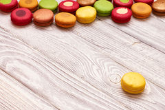 French delicious dessert macaroons Royalty Free Stock Photos