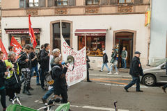 French demonstration against government's State of Emergency Royalty Free Stock Photo