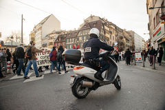 French demonstration against government's State of Emergency Royalty Free Stock Images