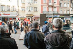 French demonstration against government's State of Emergency Stock Photos