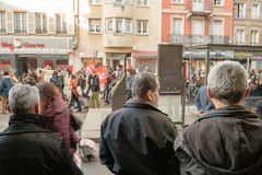French demonstration against government's State of Emergency Royalty Free Stock Photos