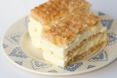 French dessert. Custard Slice (millefeuille Royalty Free Stock Photography