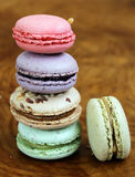 French dessert almond colorful  biscuits macaroons Stock Image