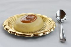 French dessert called creme caramel Stock Photography