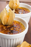 French dessert - cream brulee Stock Photography