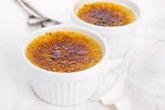 French dessert - cream brulee Stock Image