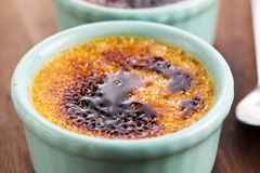 French dessert - cream brulee Stock Images