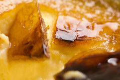 French dessert - cream brulee, burnt cream Royalty Free Stock Photo