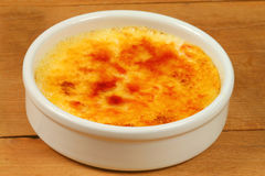 French dessert creme brulee Stock Photography
