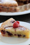 French dessert of fruit. Clafoutis, french dessert of fruits Stock Images