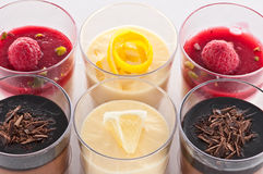 French dessert in a glass Stock Image