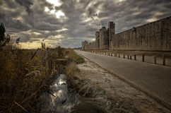 French destination, Aigues-Mortes, in Camargue region Royalty Free Stock Image