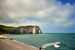 French destination in Normandy, Etretat Royalty Free Stock Photos