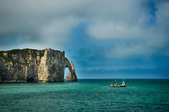 French destination in Normandy, Etretat Royalty Free Stock Photography