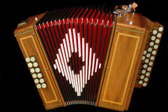 French diatonic accordion. Special command to a french instrument maker Royalty Free Stock Photography
