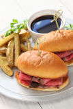 French dip sandwich, american cuisine Stock Photo