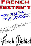 French district sign Stock Images