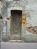 French Door#2. Doorway to a house in Toulouse Franc. Copyspace royalty free stock photography