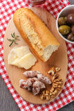 French dried sausages Stock Photo