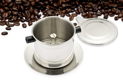 French Drip Coffee Filter Stock Photos