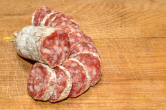 French Dry Cured Sausage Royalty Free Stock Photography