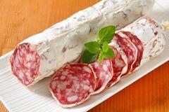 French dry sausage Stock Photos