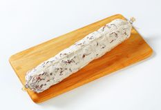 French dry sausage Royalty Free Stock Photos