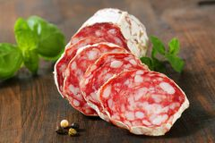 French dry sausage Stock Image