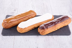 French eclair pastry royalty free stock photos