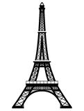 French Eiffel Tower in black-and-white color Royalty Free Stock Photography