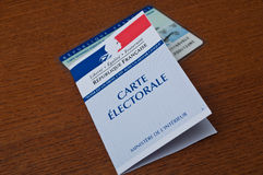 French electoral card Royalty Free Stock Photo