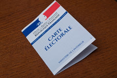 French electoral card Royalty Free Stock Image