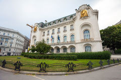 French Embassy building in Vienna city Stock Images